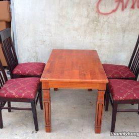 Thanh lý bàn ghế gỗ nhà hàng