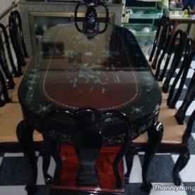 bàn ăn cẩn trai 8 ghế