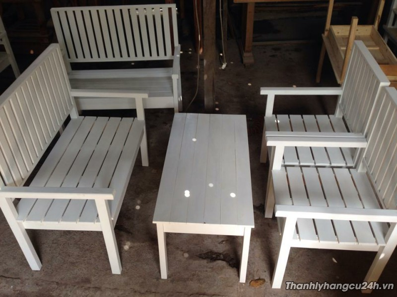 bộ bàn trắng kiểu